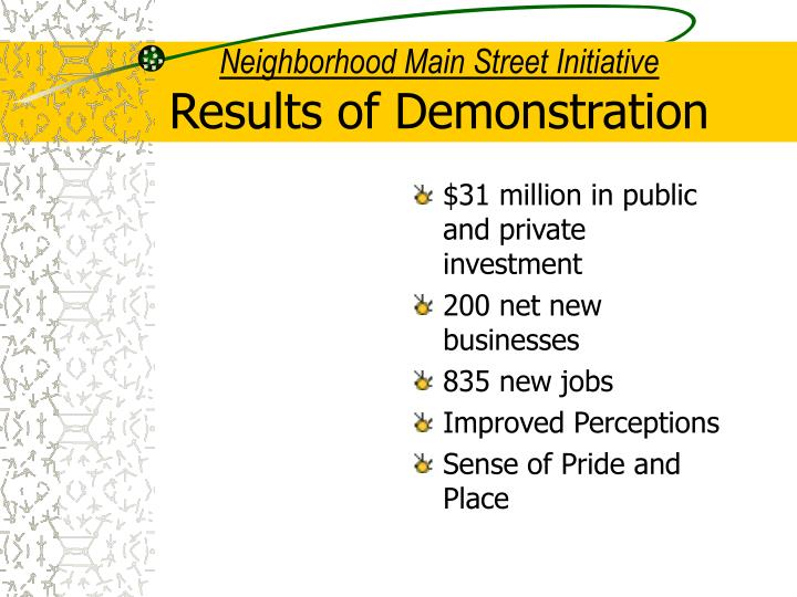 Neighborhood Main Street Initiative