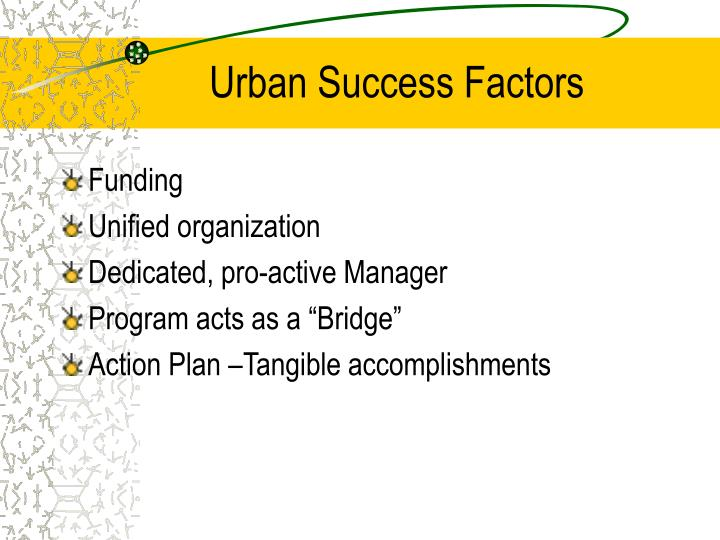 Urban Success Factors