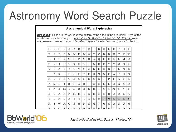 Astronomy Word Search Puzzle