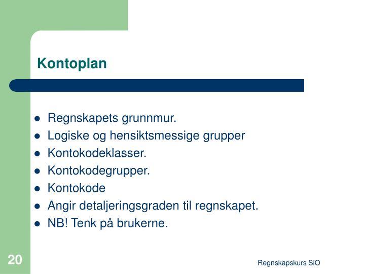 Kontoplan
