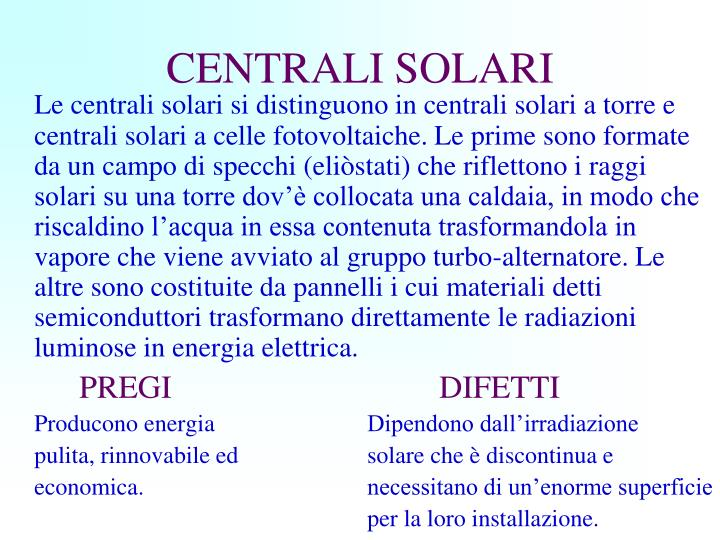 CENTRALI SOLARI