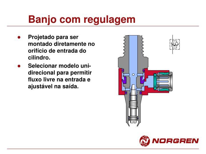 Banjo com regulagem