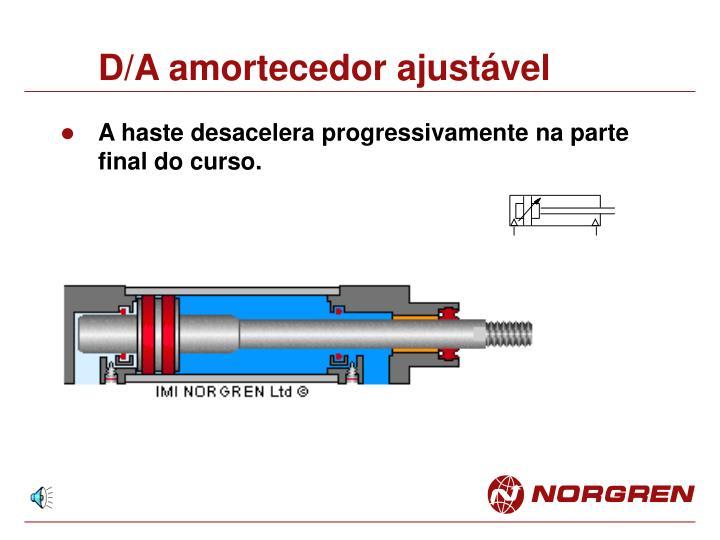 D/A amortecedor ajustável