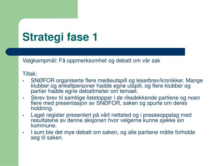 Strategi fase 1
