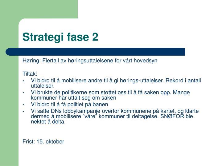 Strategi fase 2