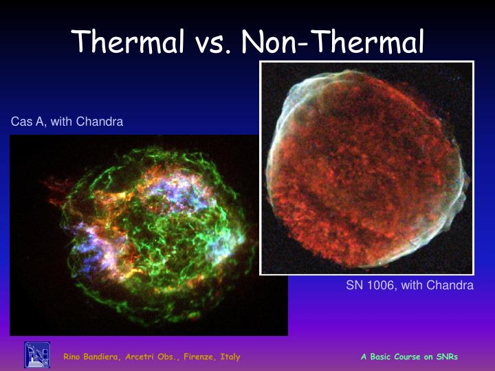 Thermal vs. Non-Thermal