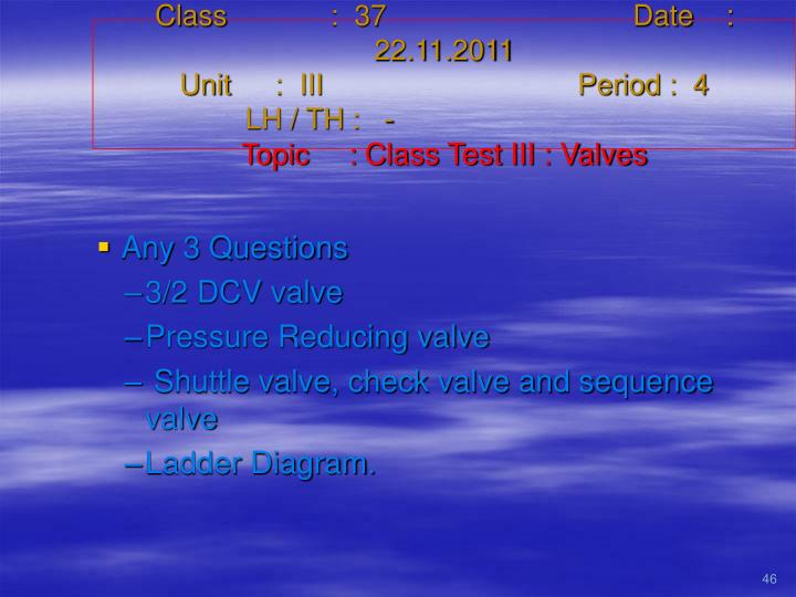 Class   :  37Date    :  22.11.2011