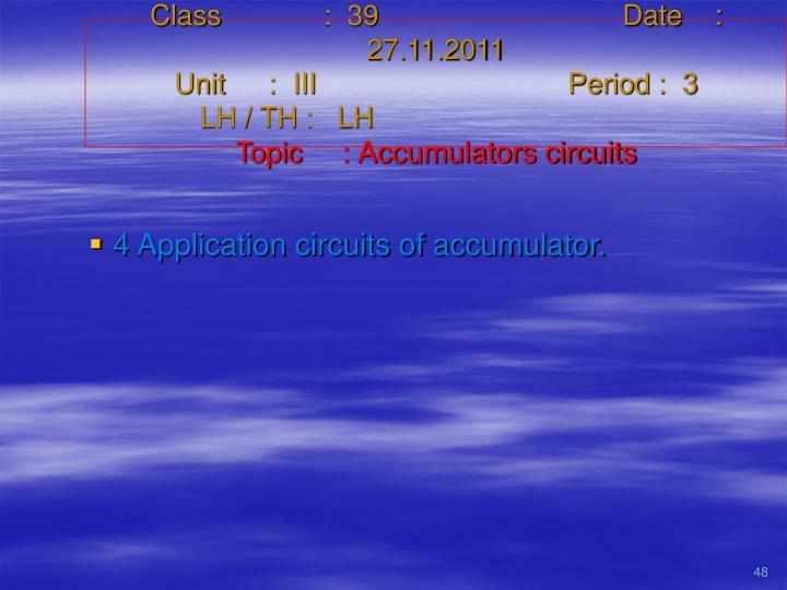 Class   :  39Date    :  27.11.2011