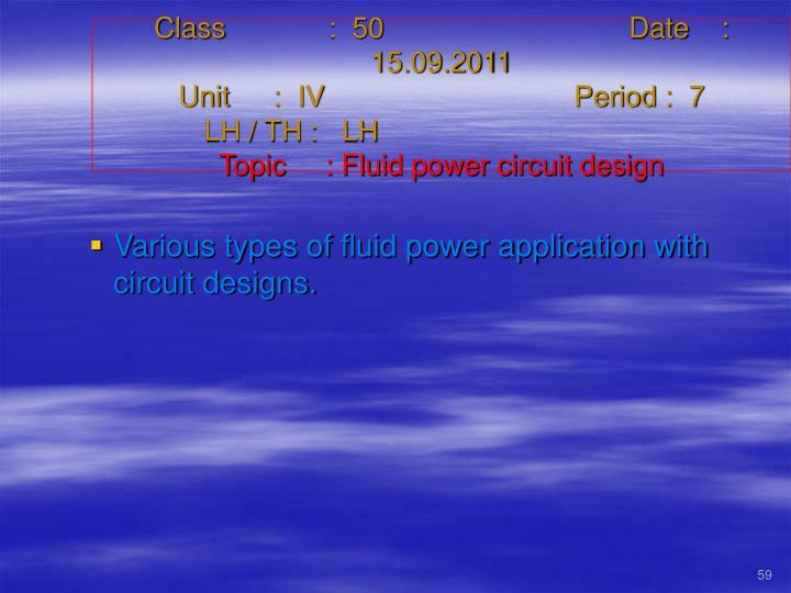 Class   :  50Date    :  15.09.2011