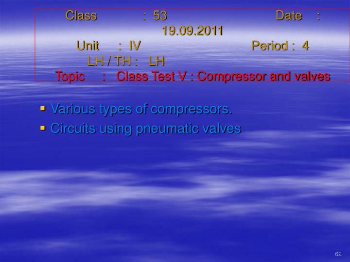 Class   :  53Date    :  19.09.2011