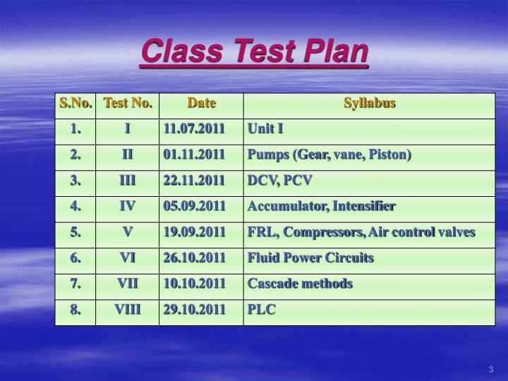 Class Test Plan