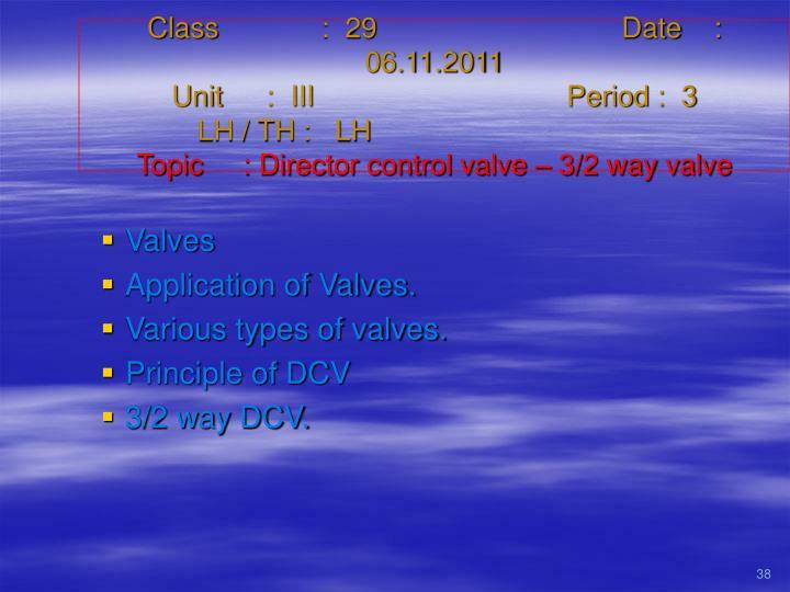 Class   :  29Date    :  06.11.2011