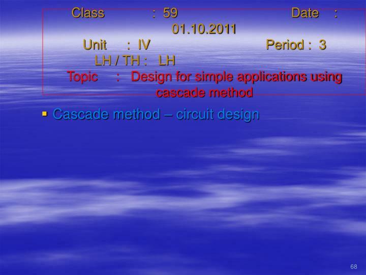 Class   :  59Date    :  01.10.2011