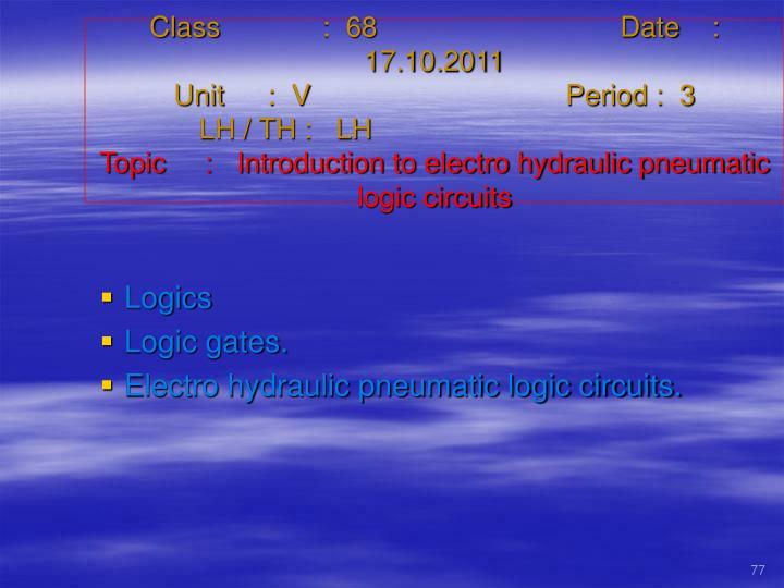 Class   :  68Date    :  17.10.2011