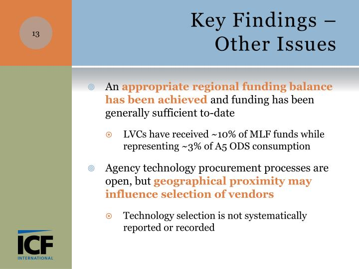 Key Findings –