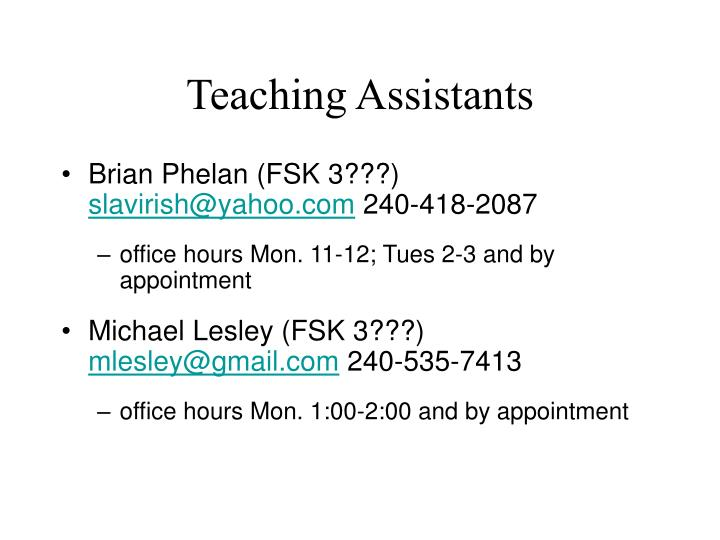 Teaching Assistants