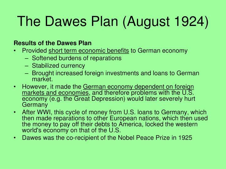 The Dawes Plan (August 1924)