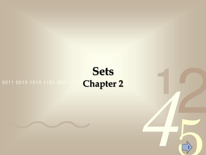 Sets chapter 2