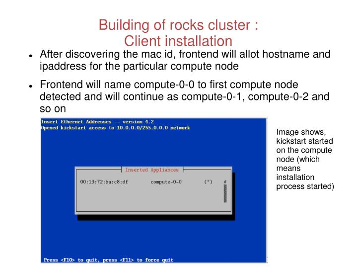Building of rocks cluster :