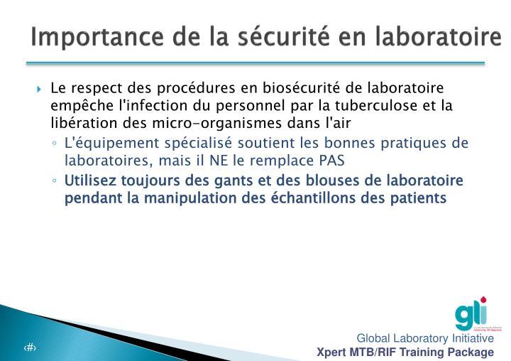 Importance de la sécurité en laboratoire