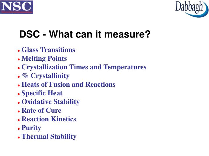 DSC - What can it measure?