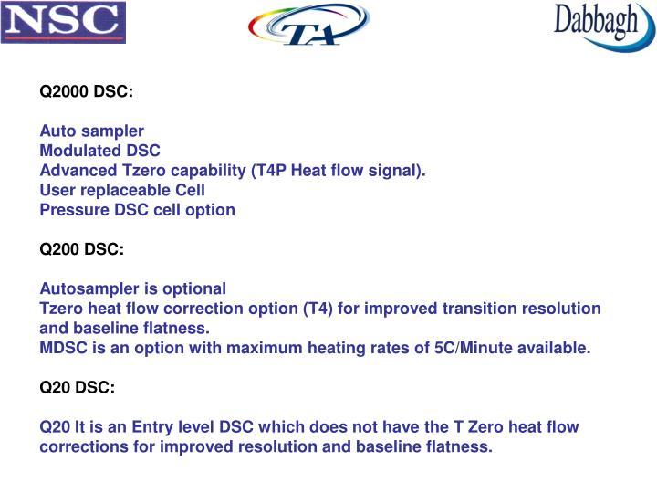 Q2000 DSC: