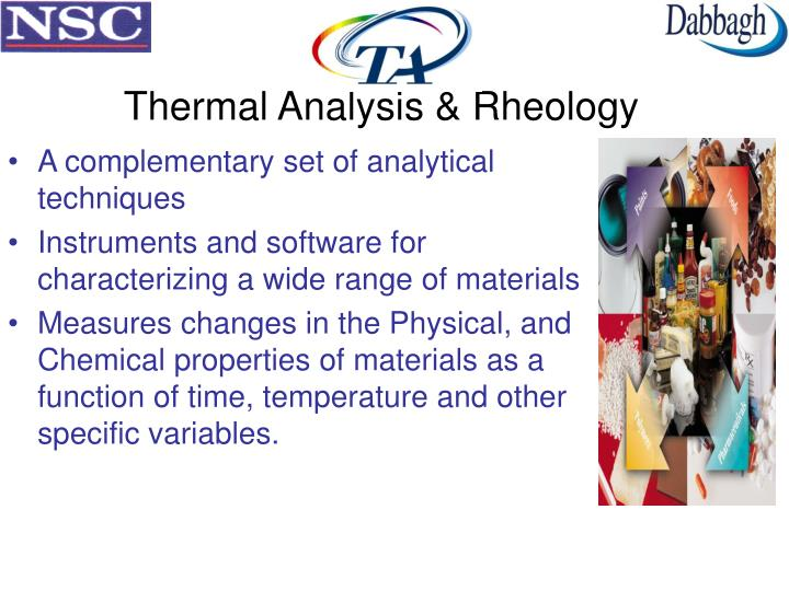 Thermal Analysis & Rheology