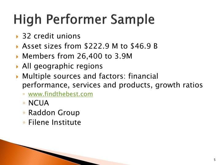 High Performer Sample