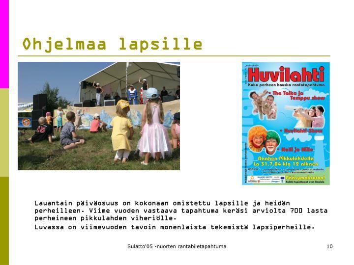 Ohjelmaa lapsille