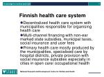 finnish health care system
