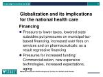 globalization and its implications for the national health care2