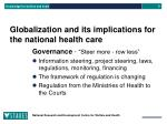 globalization and its implications for the national health care3