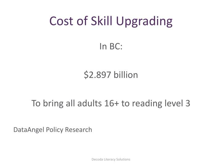 Cost of Skill Upgrading