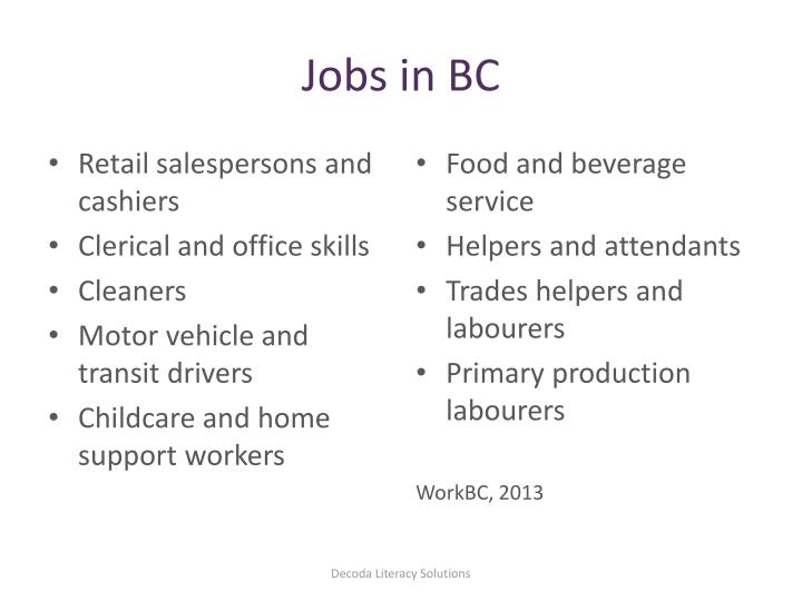 Jobs in BC