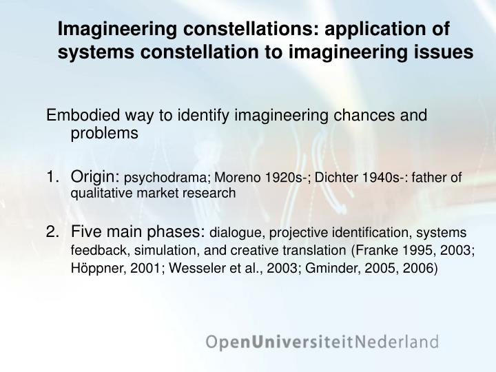 Imagineering constellations: application of systems constellation to imagineering issues