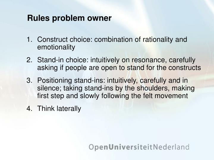Rules problem owner