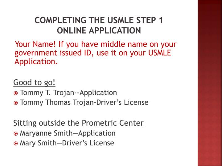 Completing the USMLE Step 1
