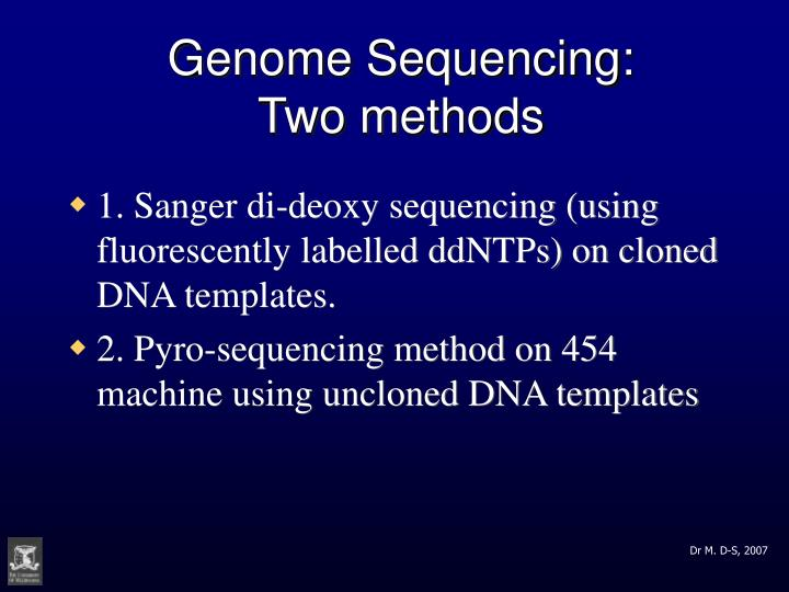Genome Sequencing: