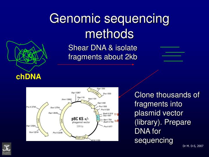 Genomic sequencing methods