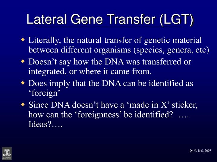 Lateral Gene Transfer (LGT)