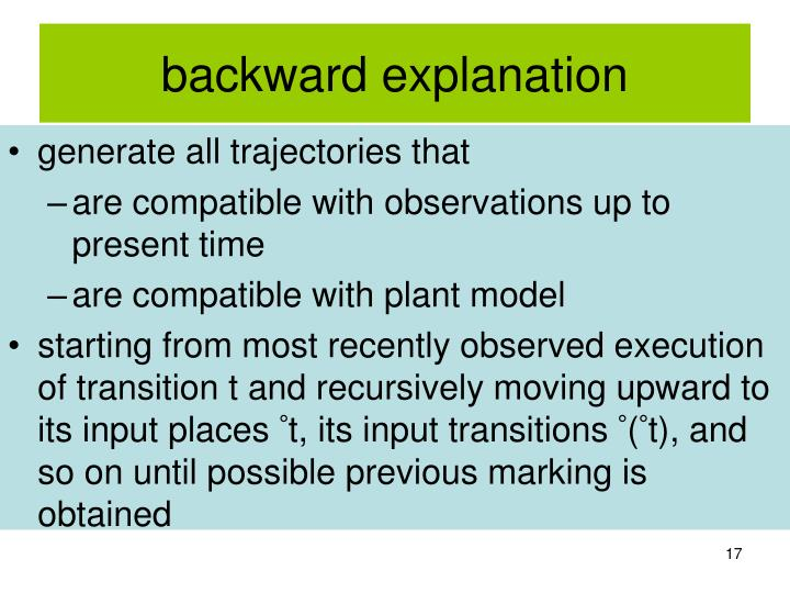 backward explanation