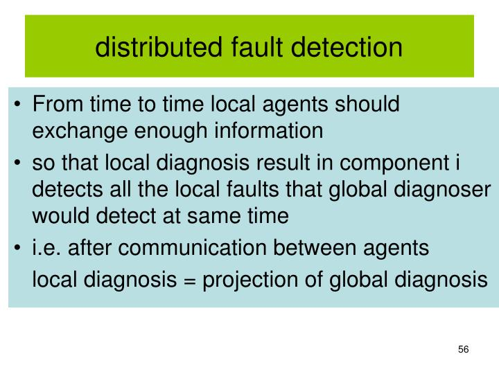 distributed fault detection
