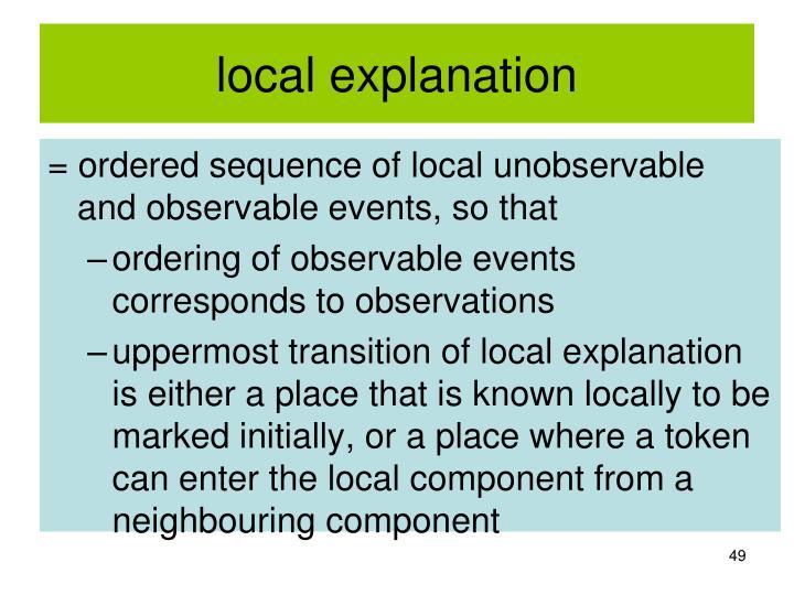 local explanation