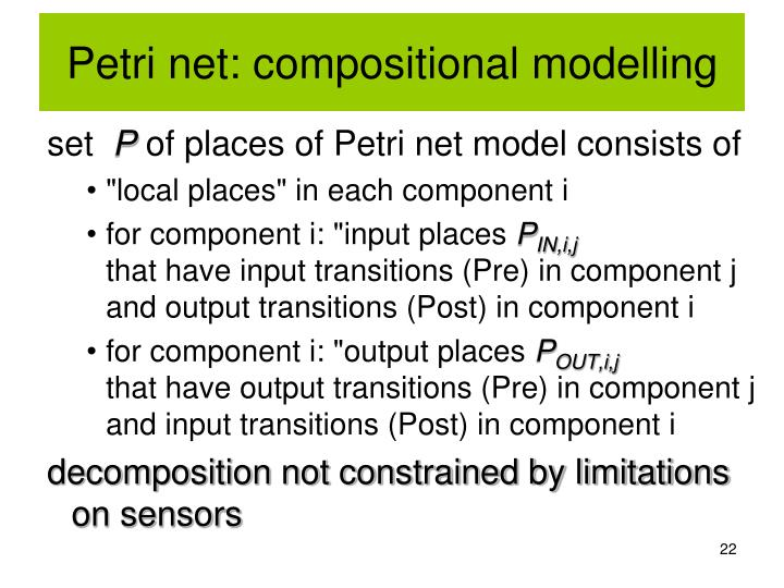 Petri net: compositional modelling