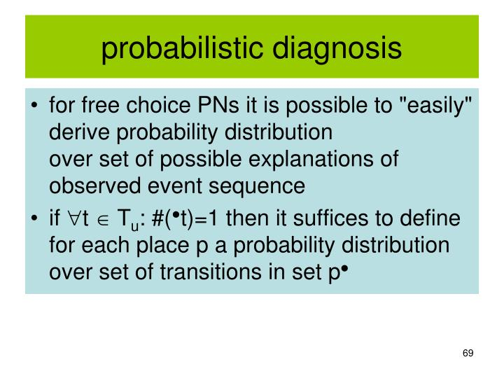 probabilistic diagnosis