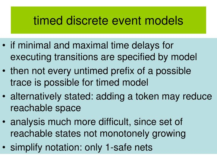 timed discrete event models