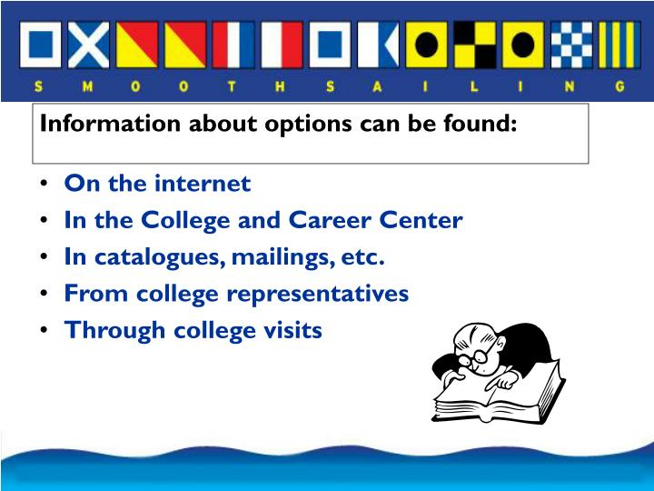 Information about options can be found: