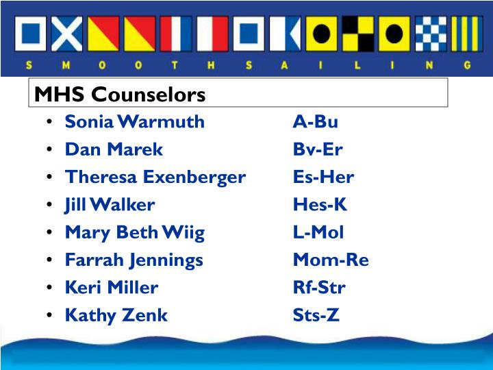 MHS Counselors