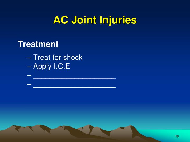 AC Joint Injuries