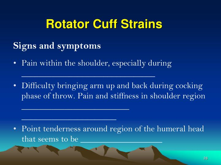 Rotator Cuff Strains